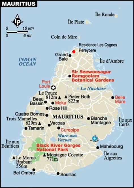 Bungalow location in Mauritius Pereybere